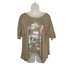Wildfox graphic empty your pockets overland tunic